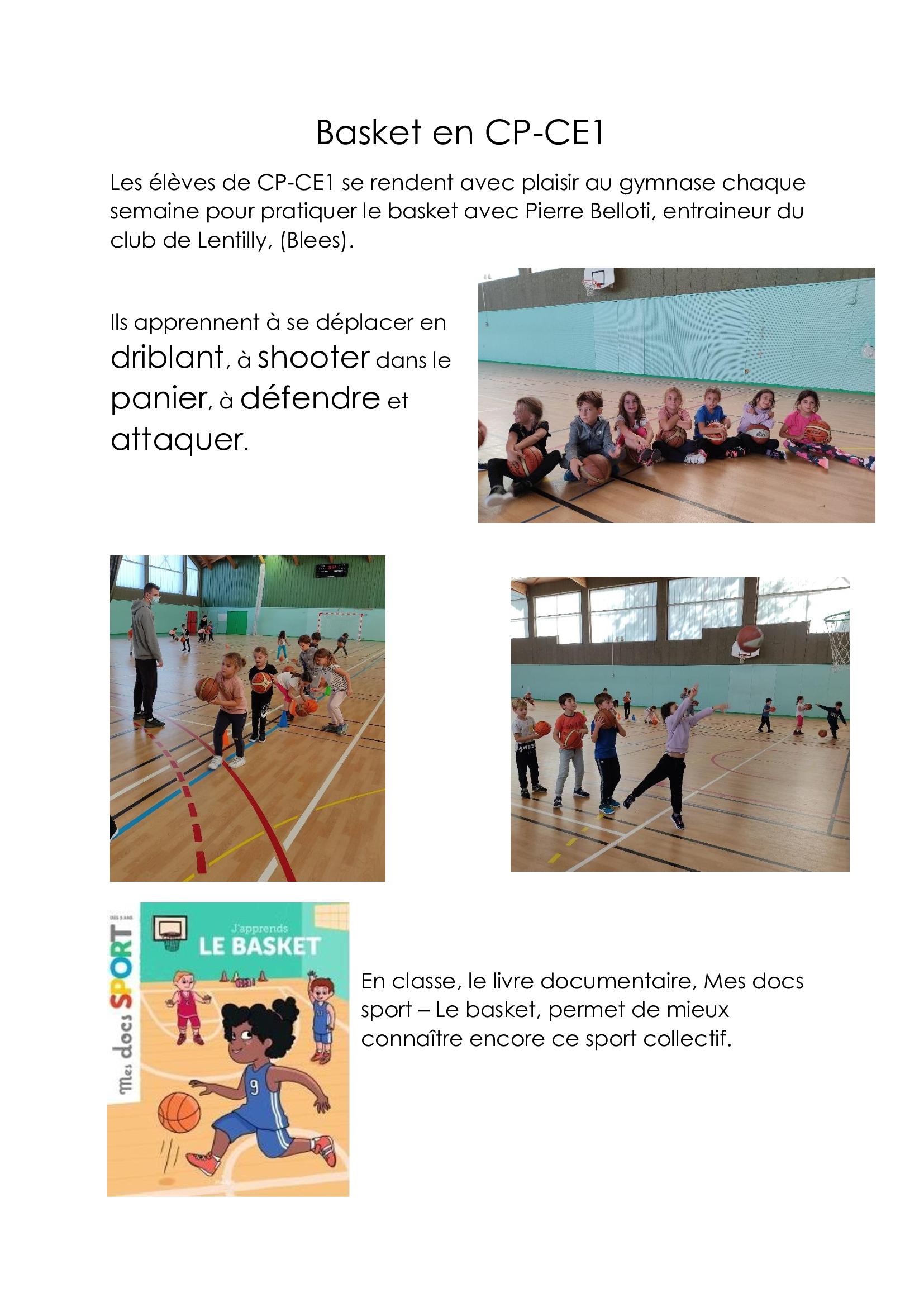 CP-CE1 : le basket